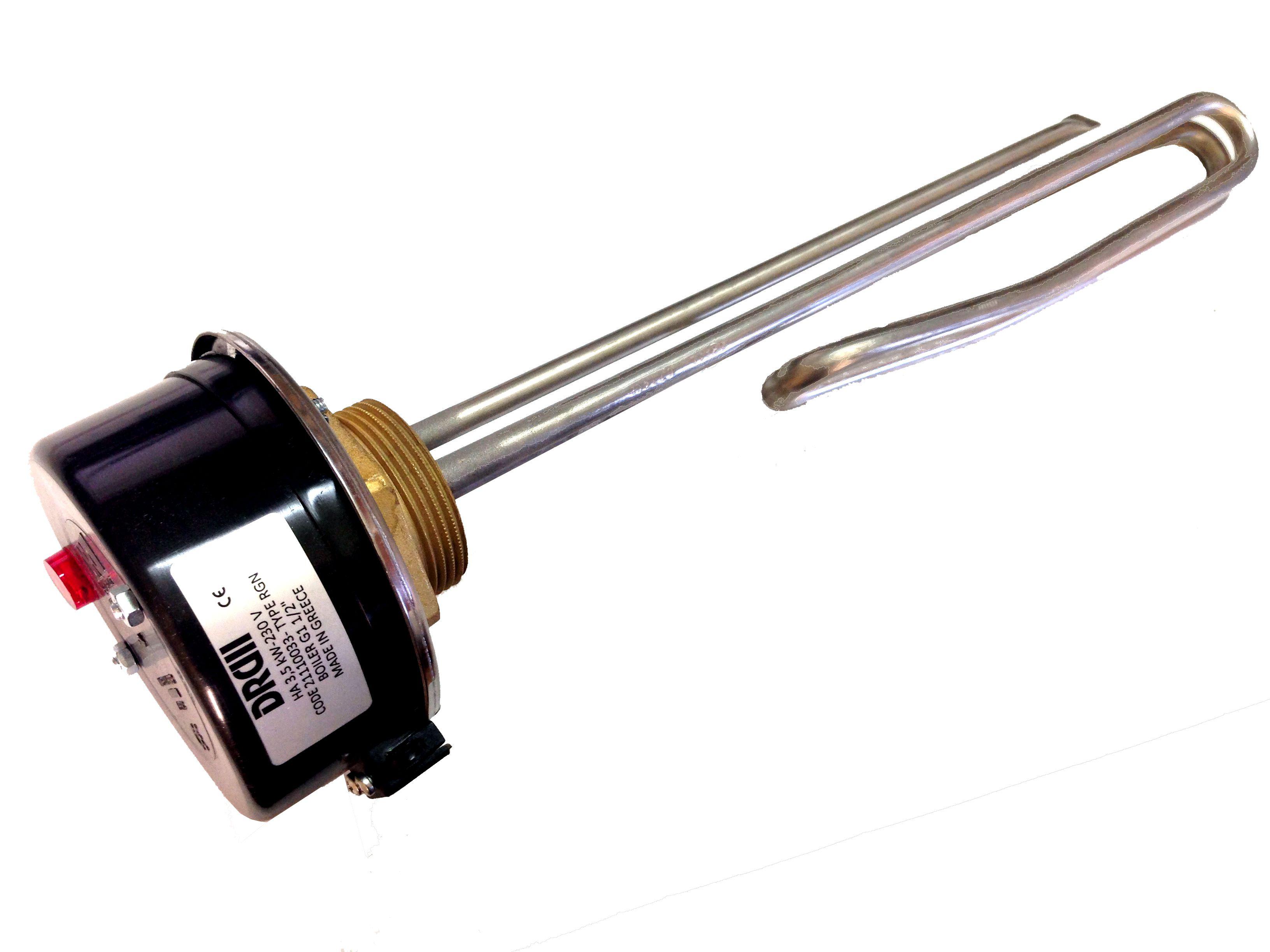 """Ηλεκτρική αντίσταση 3 kW – 230 V σπείρωμα G1 ½"""" INCOLOY 825"""